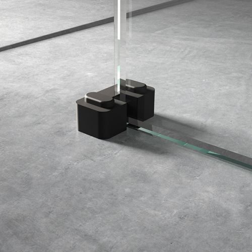 Hudson Reed Wetroom Screen Support Foot - Black (WRSF007) - 17152