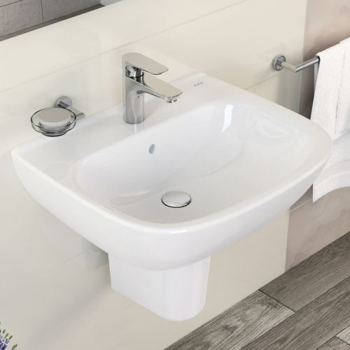 Vitra Zentrum 45cm Basin with Semi Pedestal (15298)