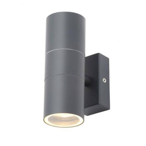 Forum Zinc ZN-20941-ANTH Leto Up/Down Wall Light - Anthracite (20574)