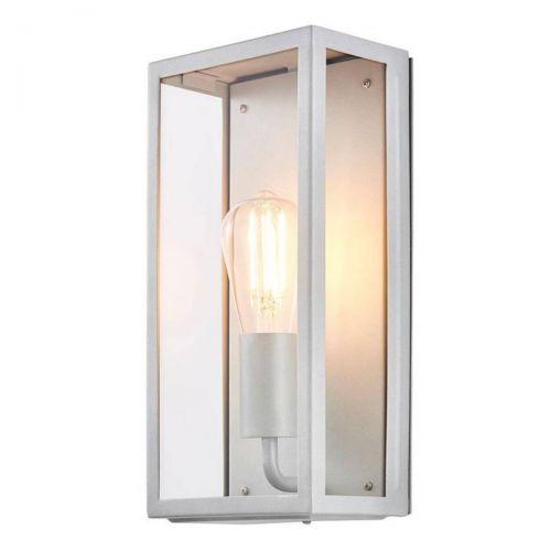 Forum Zinc ZN-20944-SIL Minerva Metal Box Outdoor Wall Light - Silver (20569)