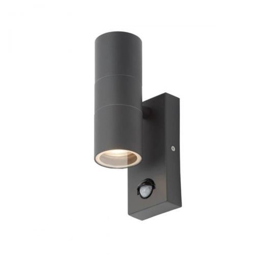 Forum Zinc ZN-29179-ANTH Leto Twin Up/Down Wall Light - Anthracite (20564)