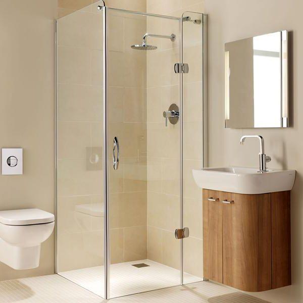 Coram Premier 1200mm Frameless Hinged Shower Door Right Hand 19184 Chrome Bathshack