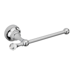 Sagittarius Swarovski Liberty Crystal Toilet Roll Holder - Chrome - 17523