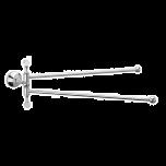 Sagittarius Swarovski Liberty Crystal Swivel Twin Towel Rail - Chrome - 17532