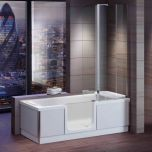Bathe Easy Style Easy Access 1800mm Shower Bath, Screen & Panels  - Left Hand (14954)