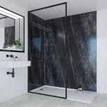 Multipanel Linda Barker Collection Jet Noir 598mm Shower Panel (13486)