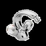 Sagittarius Swarovski Liberty Crystal Monobloc Bidet Mixer inc. Waste - Chrome - 17514