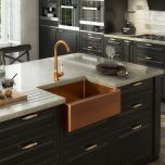 Excel Single Bowl Belfast Style Sink & Waste - Copper Finish (19019)