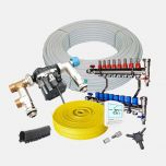 90m² Water Underfloor Heating Kit - 9 Zone System - Low Profile