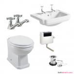 Windsor Traditional Toilet & Basin Pack for Furniture (14202)